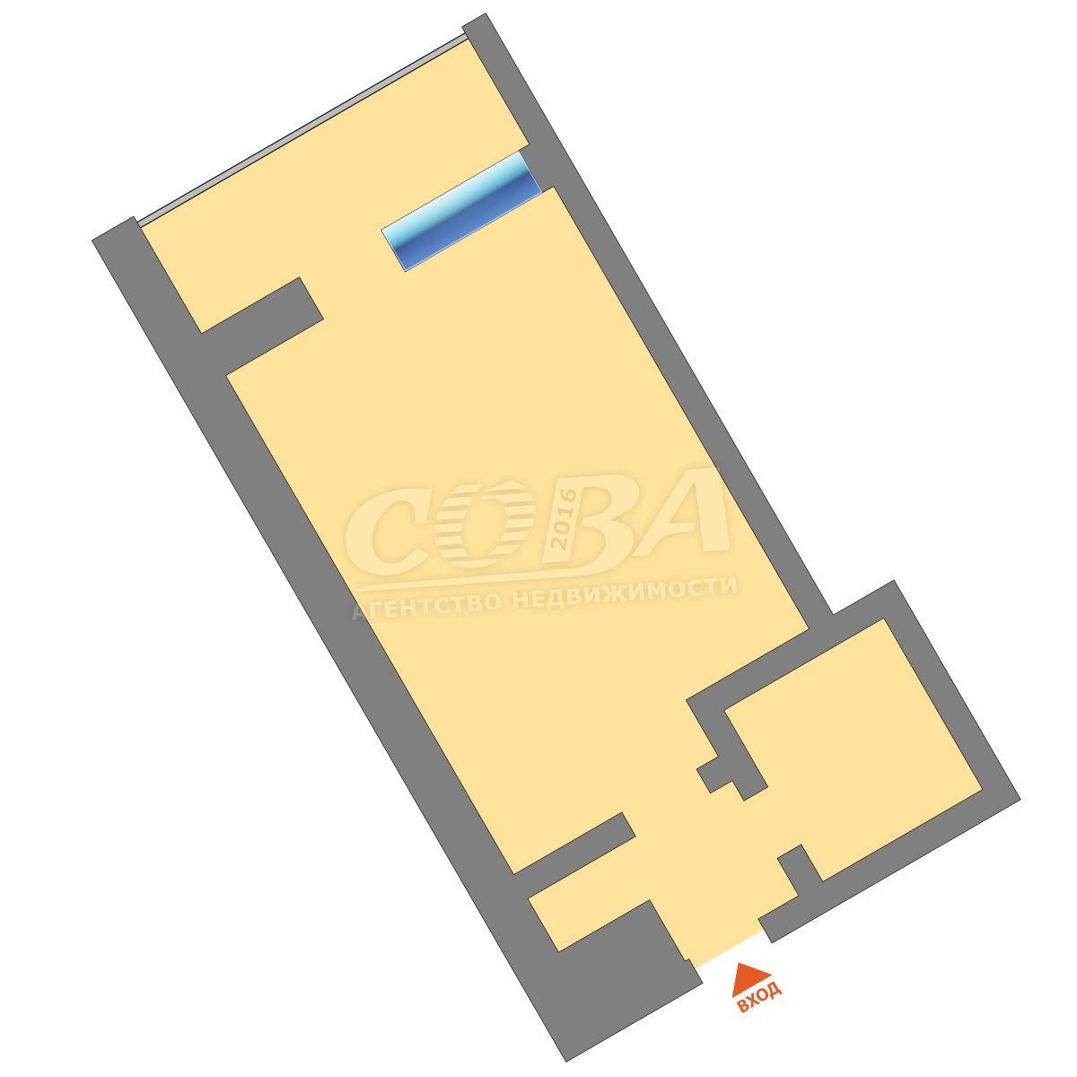 Продажа 1-комнатной квартиры, Тюмень, Харьковская ул,  83