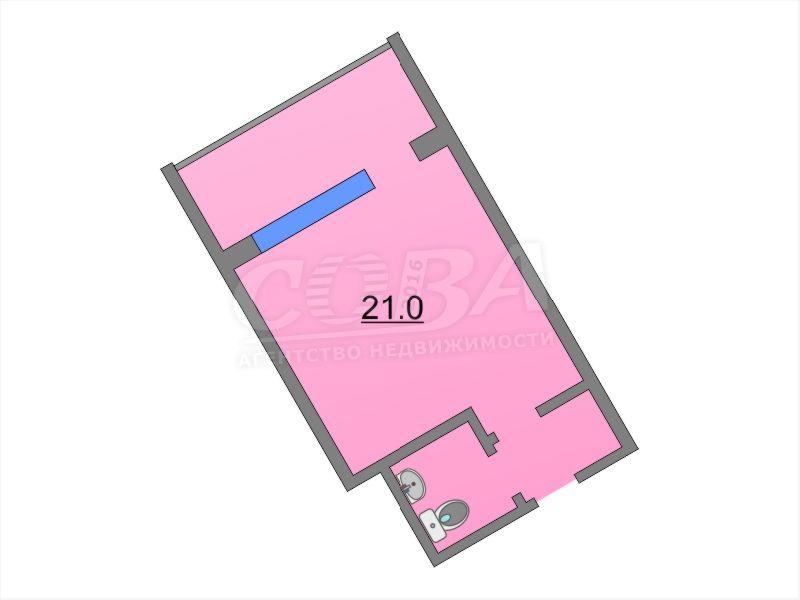 Продажа 1-комнатной квартиры, Тюмень, Шаимский проезд,  14А