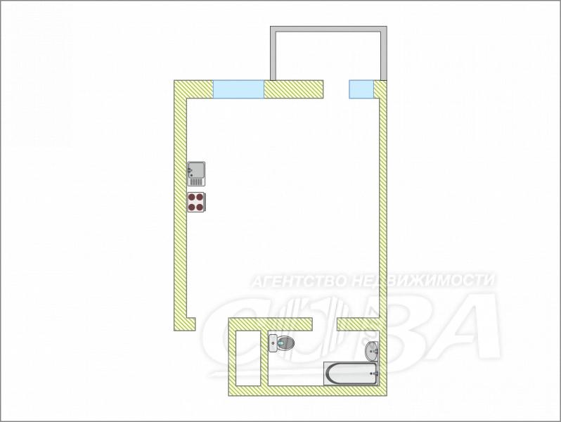 Продажа 1-комнатной квартиры, Тюмень, Пермякова ул,  79