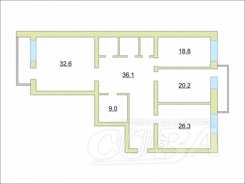 Продажа 2-комнатной квартиры, Тюмень, Герцена ул,  55